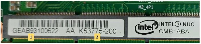 Intel NUC Rugged Board Element CMB1ABA