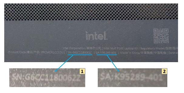 Intel NUC Laptop Element