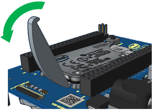 Rotate tool to seperate module from board