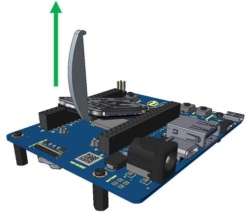 Lift module off expansion board