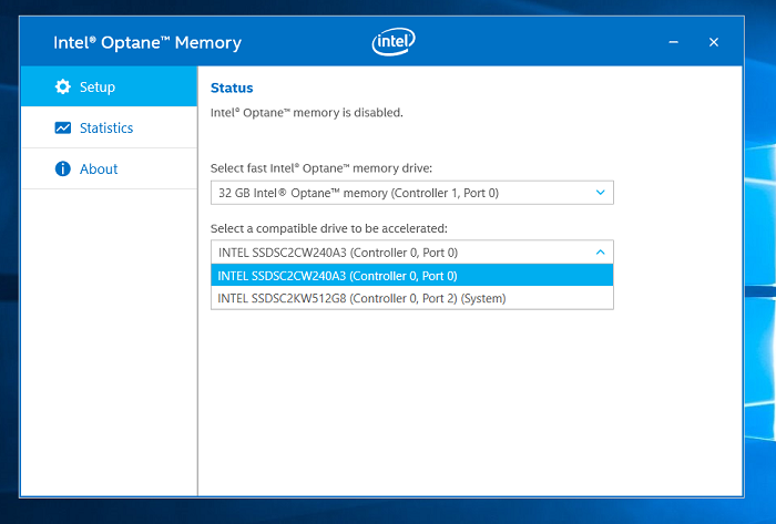 Intel® Optane™ Memory application
