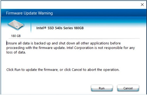 Firmware Update Warning