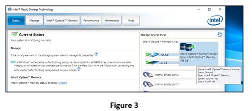 storage volume, enabled for system acceleration