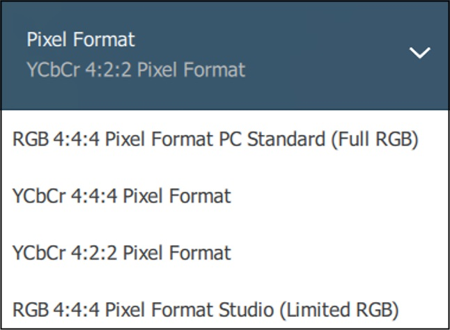Pixel format