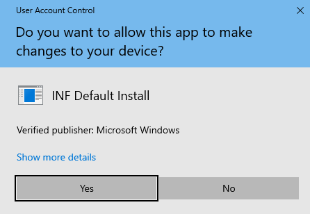 How to Install a Driver without a  exe File