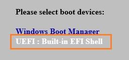 UEFI: Built-in EFI Shell