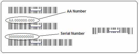 barcode label on box