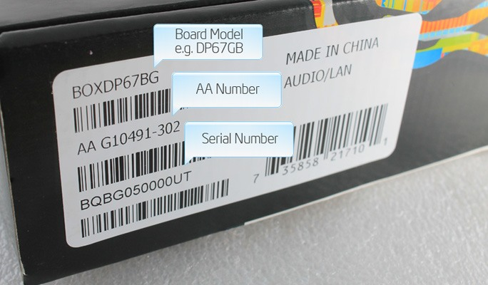 Example box label