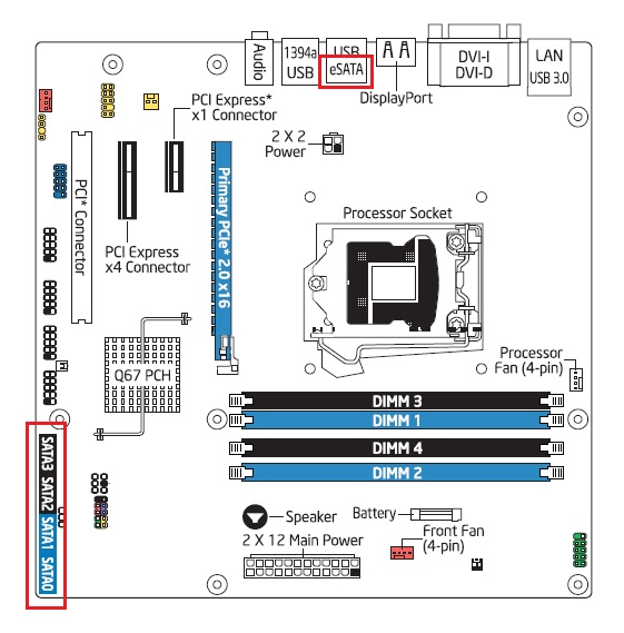 identifying the sata ports on your desktop board rh intel com