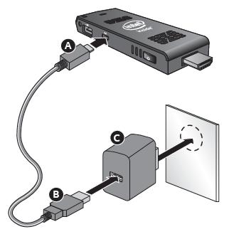 Use AC adapter