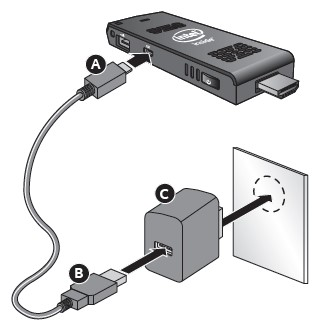 Connect with AC adapter