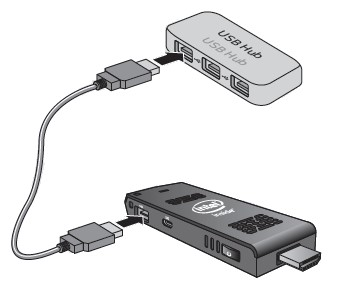 Connect USB hub to USB 2.0 port