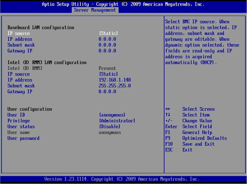 Configure or Reset Intel® Remote Management Module 3 (Intel