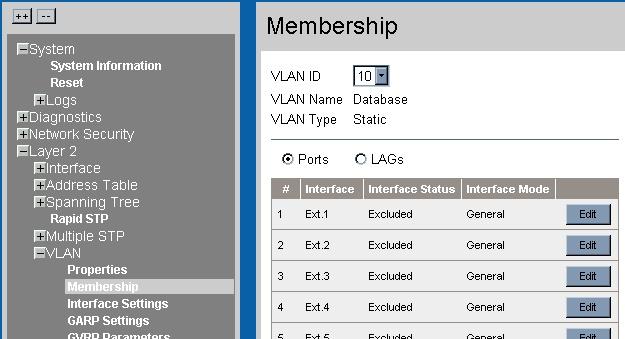 Advanced configuration Membership