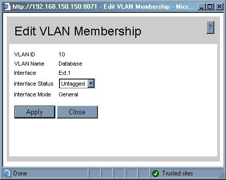 Edit VLAN membership Ext 1.1
