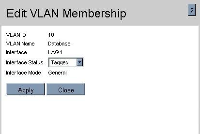 Edit VLAN membership