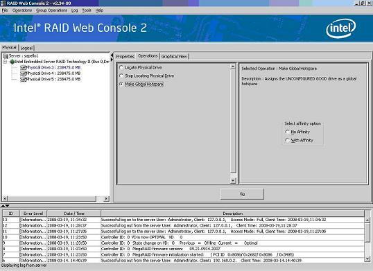 Intel® RAID Web Console