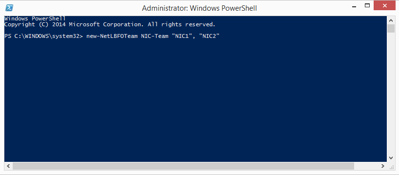Windows Powershell dialog