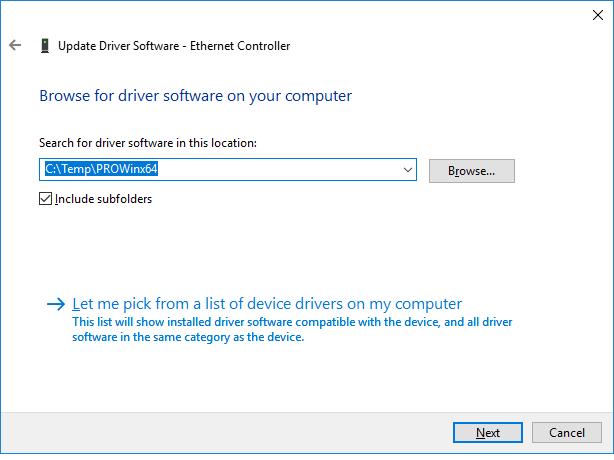How to Manually Install Intel® Network Adapter Drivers in Windows*