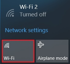 Location of Wi-Fi button