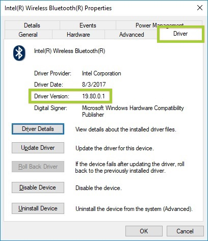 intel wireless bluetooth 4.0 driver