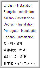 Supported languages