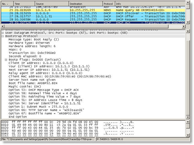 Troubleshooting PXE Boot with Network Protocol Analyzer