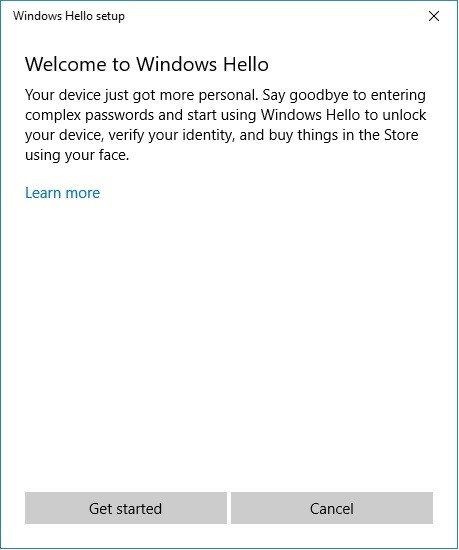 Welcome to Windows* Hello