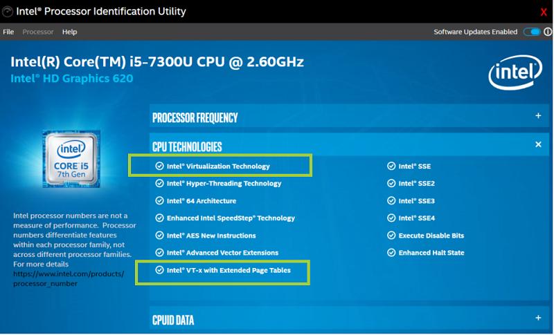 La virtualisation Intel est disponible