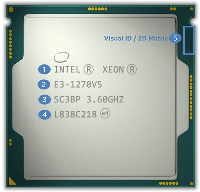 How to Identify My Intel® Xeon® Processor Markings for
