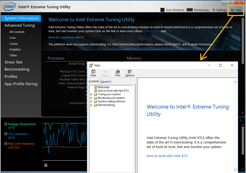 How to Use the Intel® Extreme Tuning Utility (Intel® XTU) for
