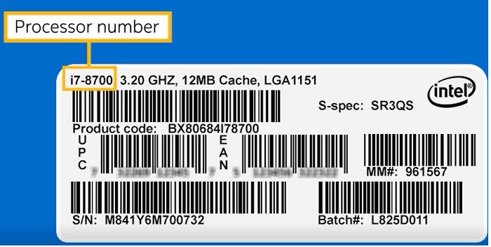Processor number
