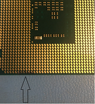 Thermally damaged processor