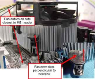 Fan heatsink installation image