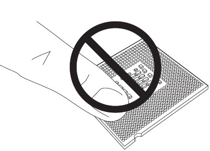 Do not touch the bottom of the processor