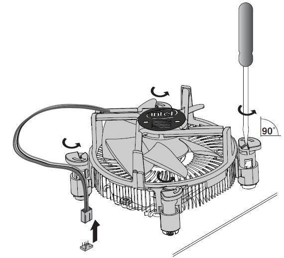 Resetting Boxed Intel® Processor Fan Heatsink Push Pins
