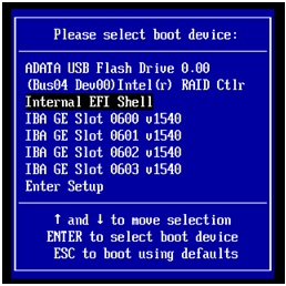 Internal EFI Shell