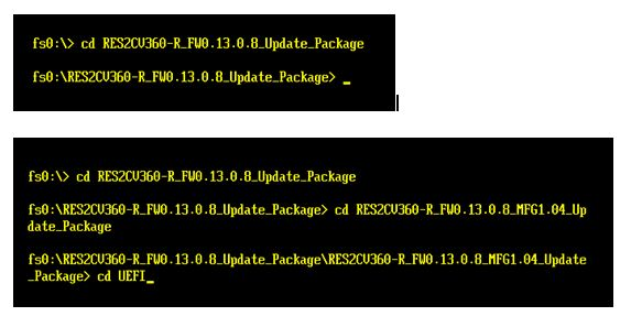Change directories to UEFI folder