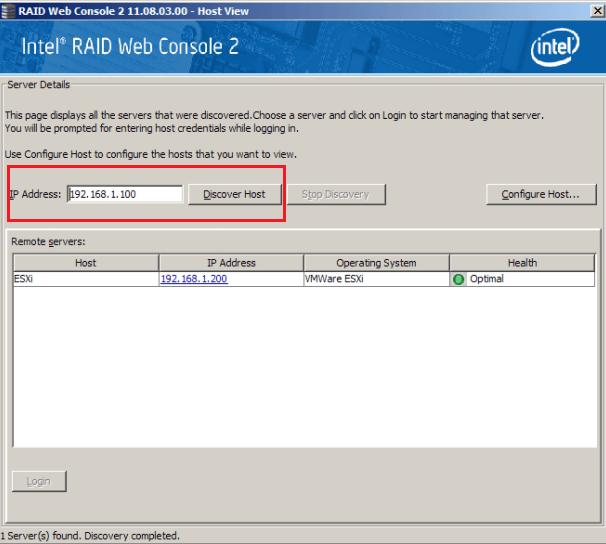 How to Monitor a RAID Array Using Intel® RAID Web Console 2