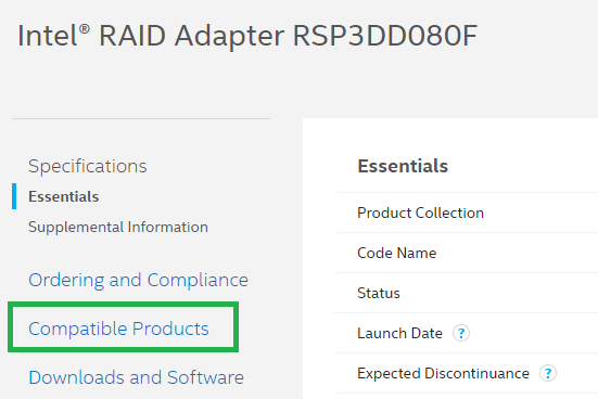 Compatible products section location example image