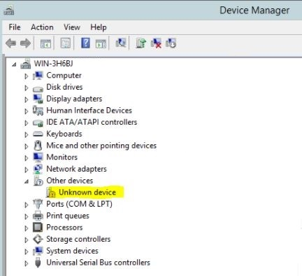 Unidentified Devices in Device Manager if the Intel® Chipset