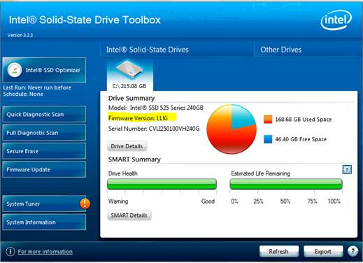 Intel® Solid—State Drive Toolbox