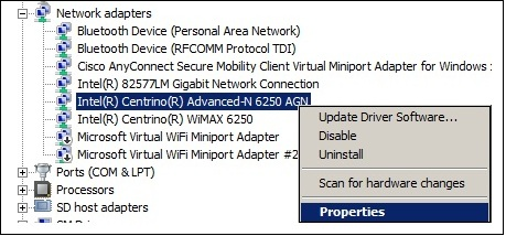 intel wifi link 1000 bgn driver not working