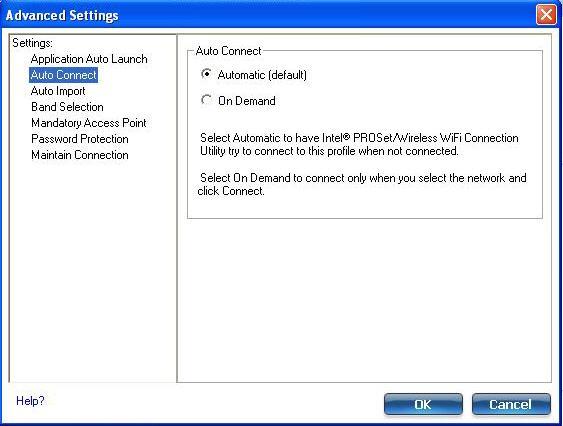 Screenshot of the Advanced Settings window
