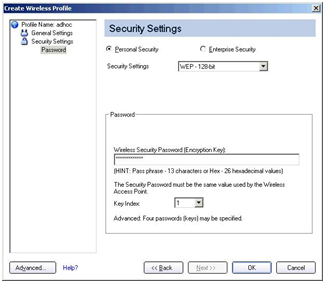 Screenshot of WiFi Connection Utility with a password entered