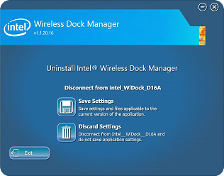 Uninstall dock manager