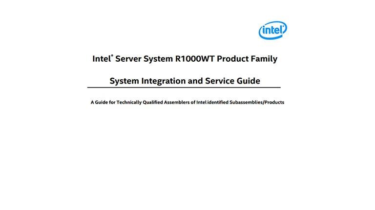 INTEL R1000WT SERVER SYSTEM TREIBER WINDOWS 10