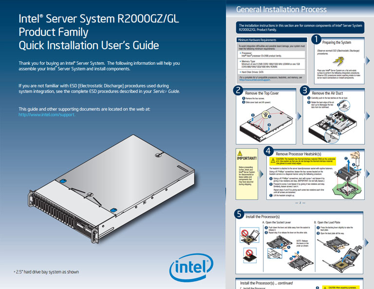 Intel R1000GZ Server System EFI Drivers
