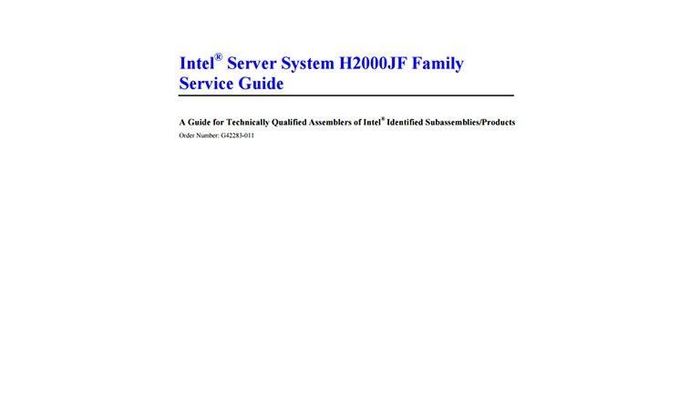 New Drivers: Intel H2000JF Server System OFU