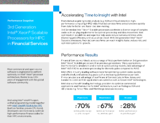 Intel® Xeon® Processor HPC Financial Services